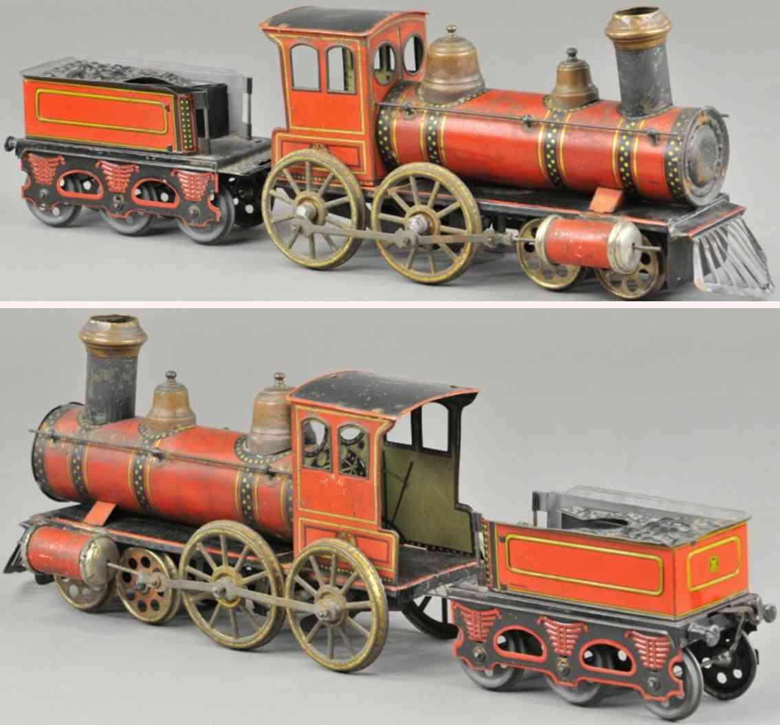 guenthermann bodenlaeufer lokomotive tender rot schwarz