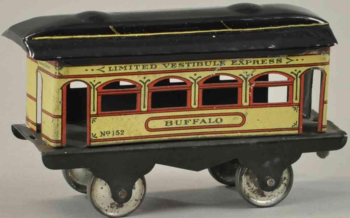 ives 152 spielzeug eisenbahn bodenlaeufer personenwagen buffalo