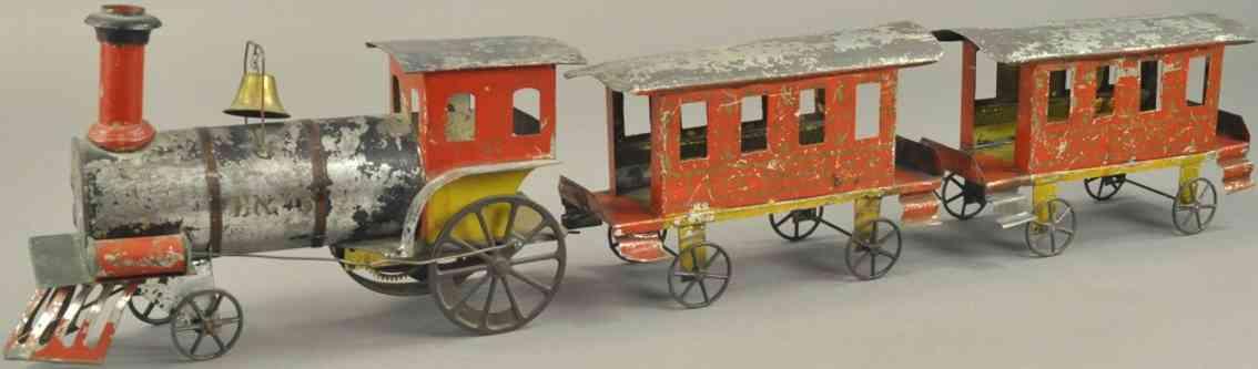 ives spielzeug eisenbahn bodenlaeufer amerikanischer zug uhrwerklokomotive