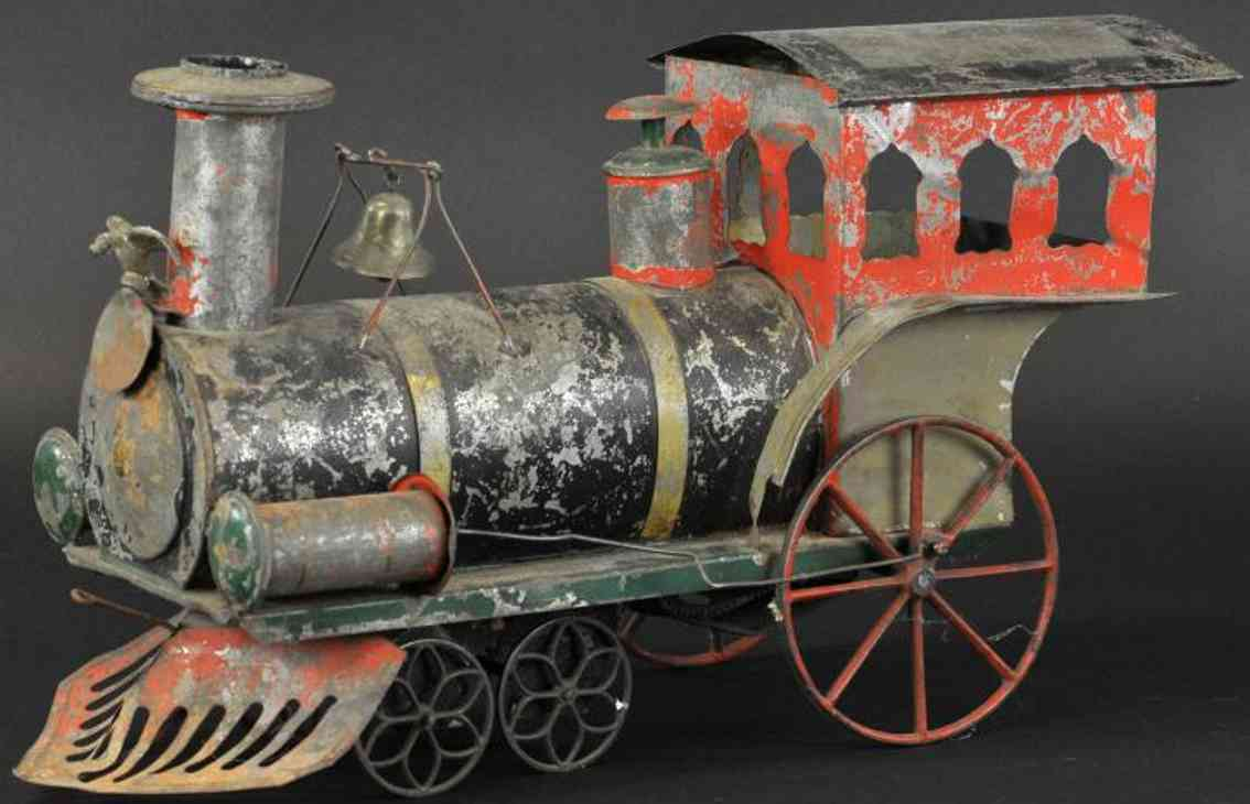 ives spielzeug eisenbahn bodenlaeufer uhrwerk lokomotive