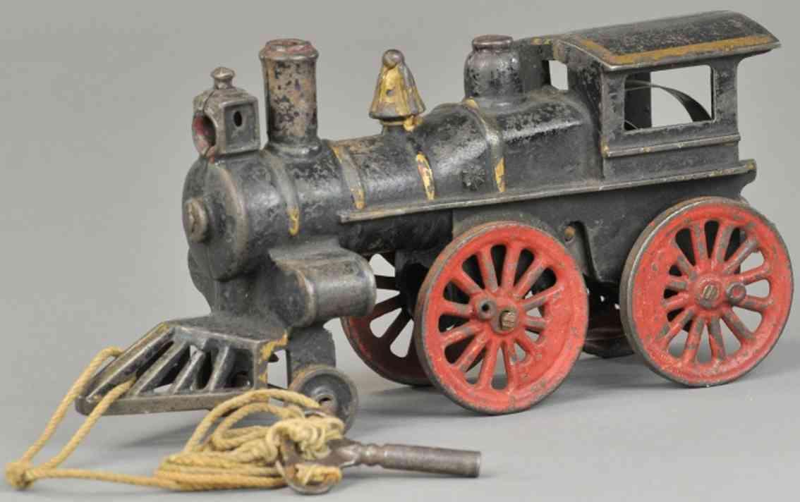 jones & bixler railway toy floor train clockwork locomotive cast iron black