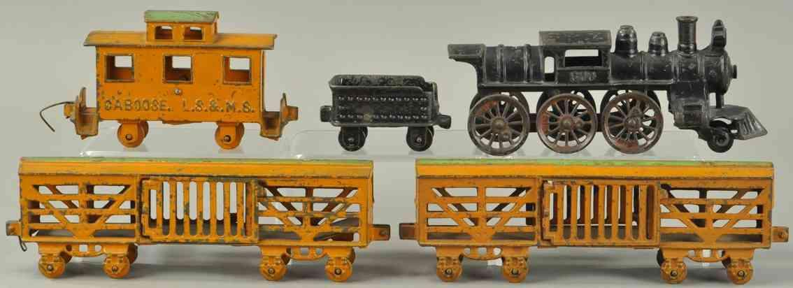 kenton hardware co spielzeug eisenbahn bodenlaeufer frachtzug viehwagen caboose