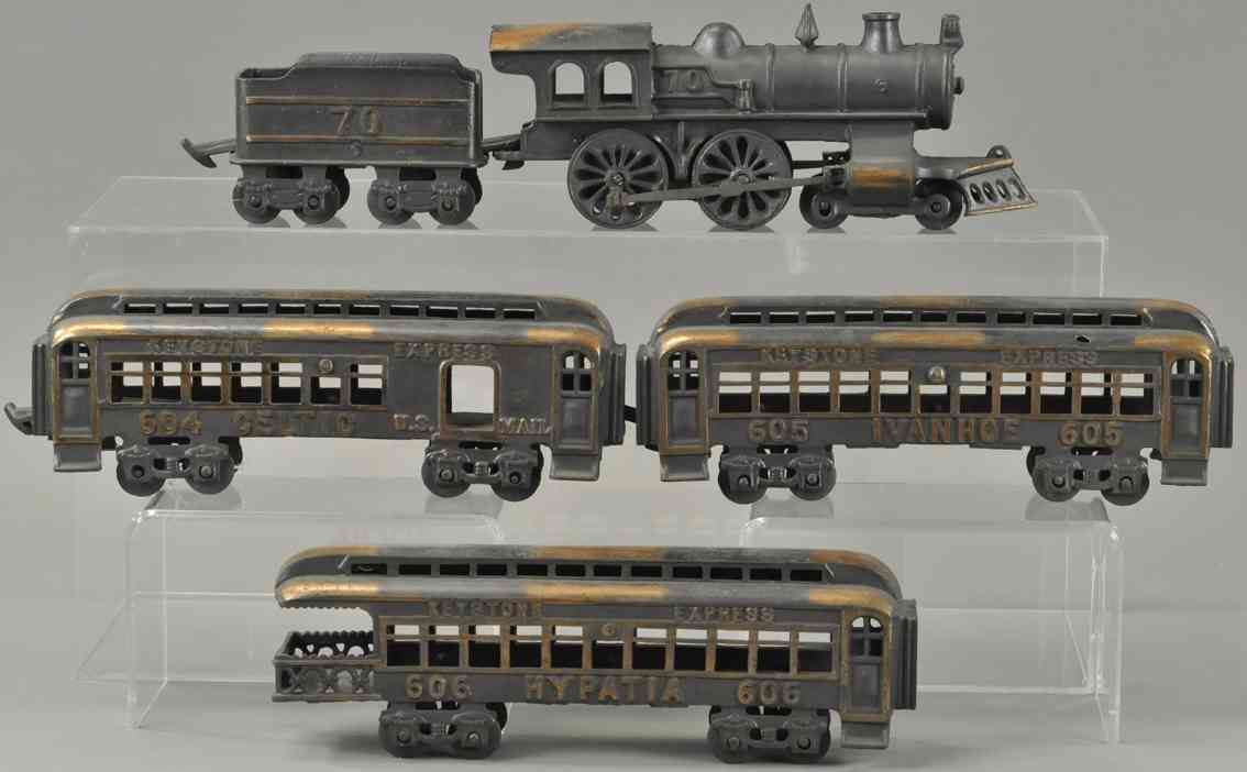 keystone 70 604 605 606 railway toy floor train electroplated express se