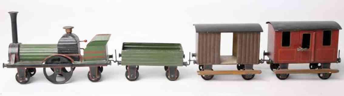 lutz railway toy floor train in the rare gauge 0 loco tender 2 cars