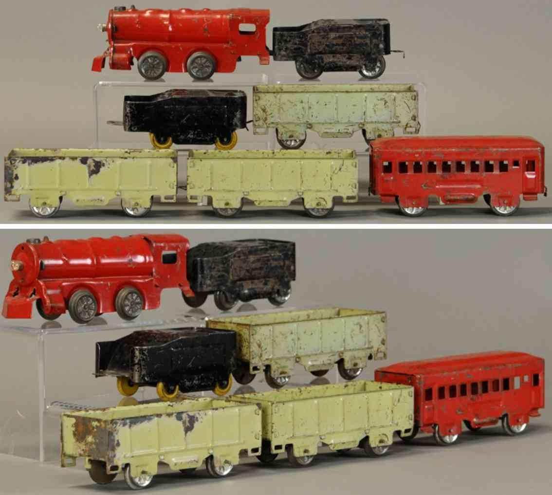 marx louis railway toy floor train floor train set