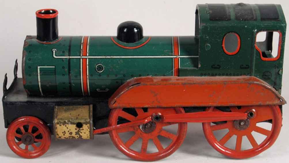Orobr Lokomotive lithografiert mit Uhrwerk als Bodenläufer