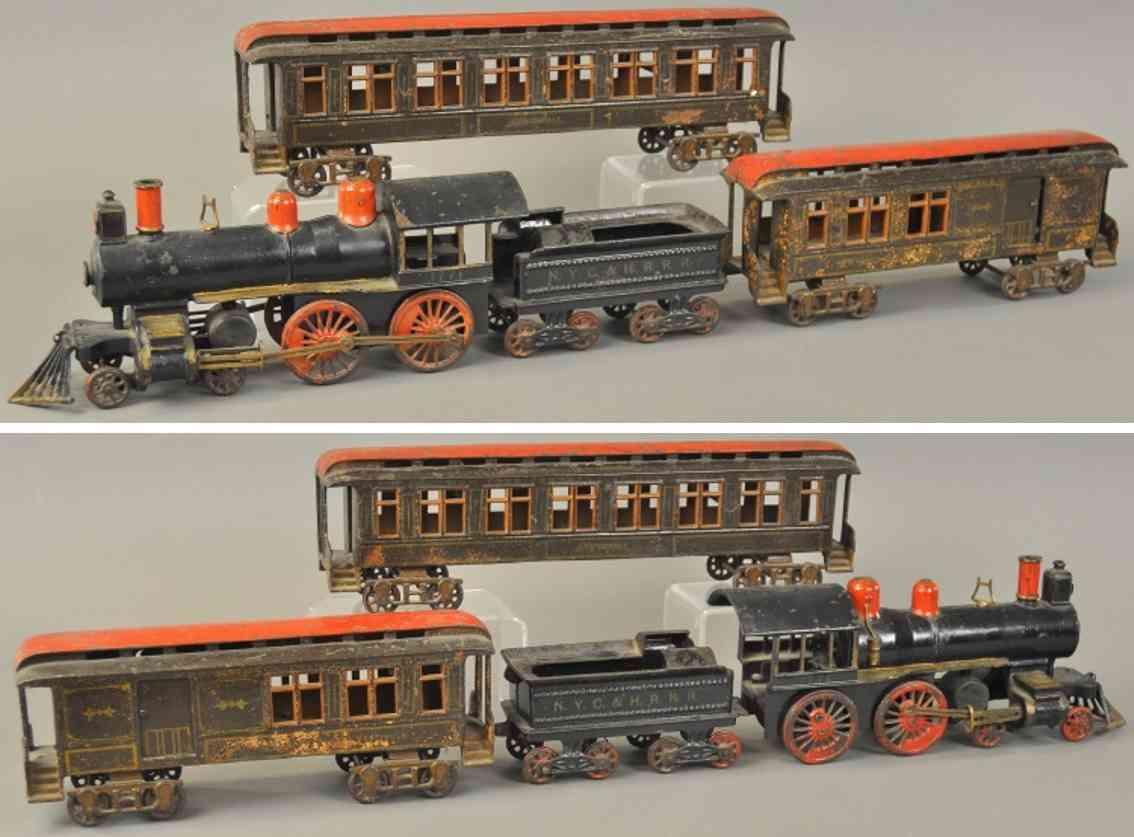 pratt & letchworth 1771 spielzeug gusseisen bodenlaeufer personenzug
