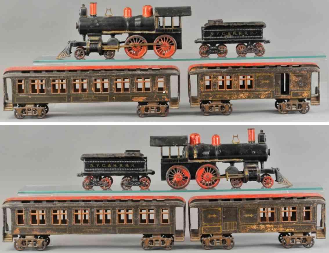 pratt & letchworth railway toy vestibule cast iron floor train set  buffalo