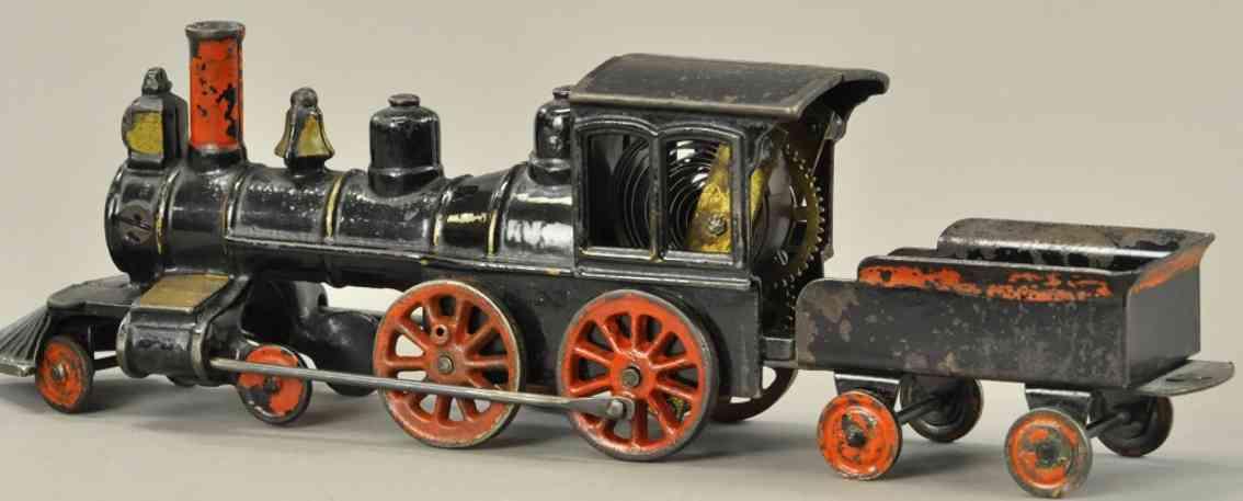 pratt & letchworth spielzeug eisenbahn bodenlaeufer uhrwerklokomotive
