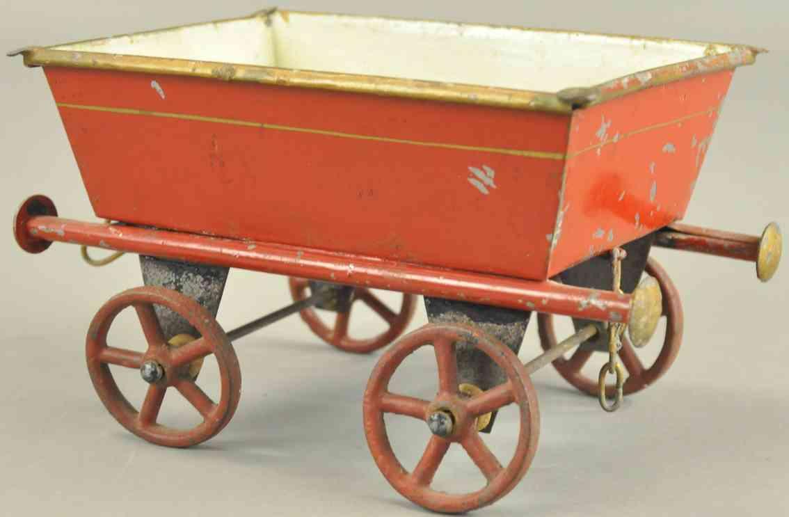rock & graner railway toy floor train gondola car red