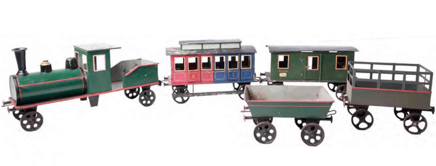 rock & graner railway toy train as floor runner tenderloco 4 cars