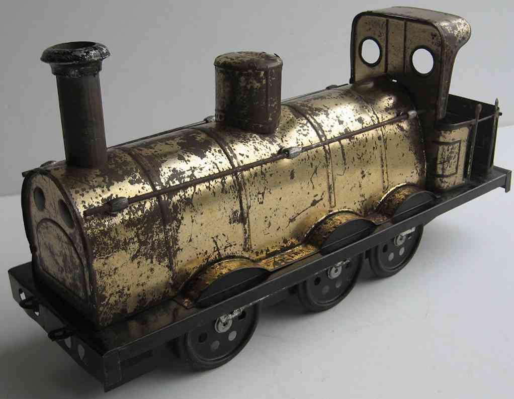 charles rossignol spielzeug eisenbahn bodenlaeufer lokomotive mit uhrwerk