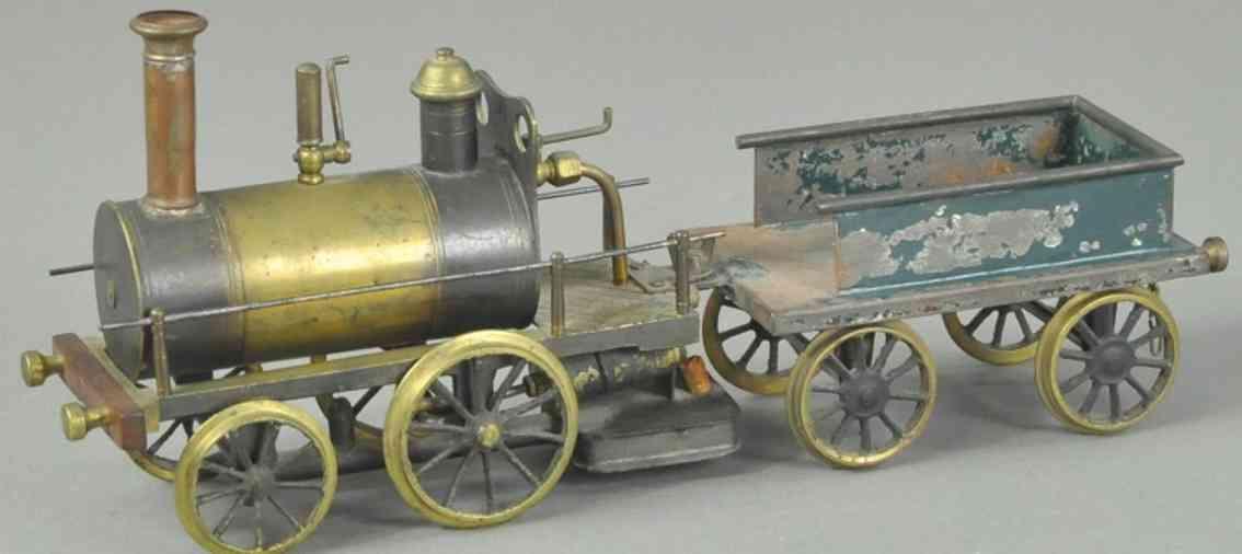 stevens co j & e dockyard echtdampflokomotive tender spur  1/2