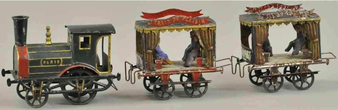 tantet et manon railway toy floor train french train set train depicts plaisir paris tmb