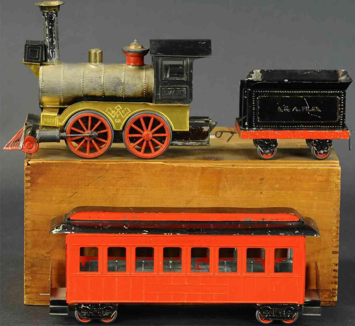weeden railway toy floor train dart live steam classic set loco tender car