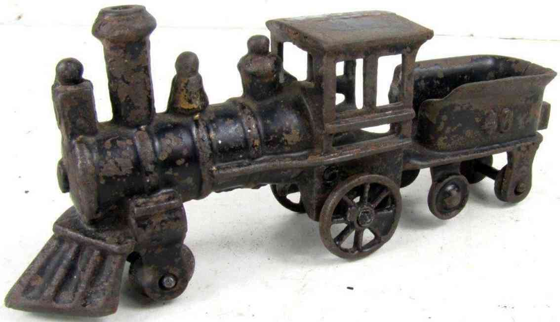 wilkins 657 railway toy floor train cast iron lcoomotive with integral tender embossed 46