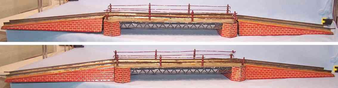 bing 13237/1 spielzeug eisenbahn dreiteilige bruecke spur 1