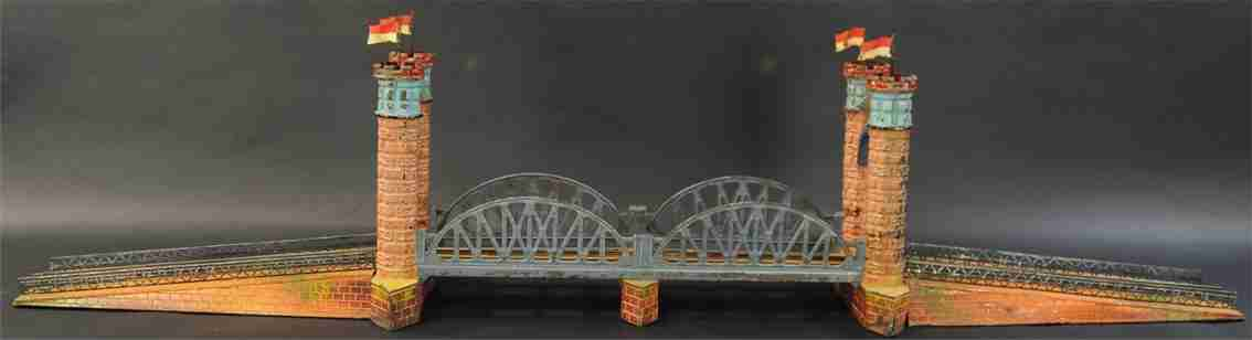 bing 14053/1 railway toy railway bridge two gateways