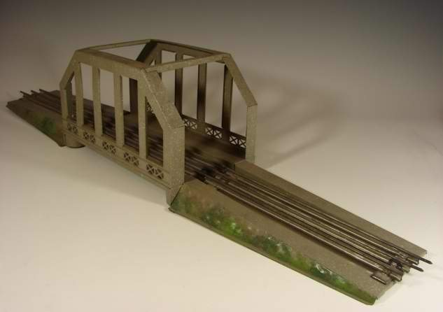 karl bub 764/0 railway toy arch bridge grey  in iron concrete manner gauge 0