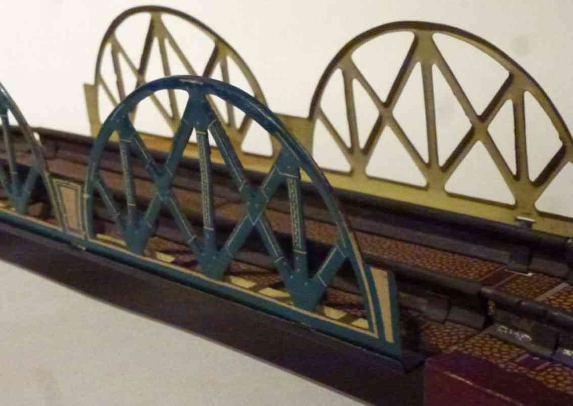 distler johann 158 railway toy double arch lattice bridge two driveways
