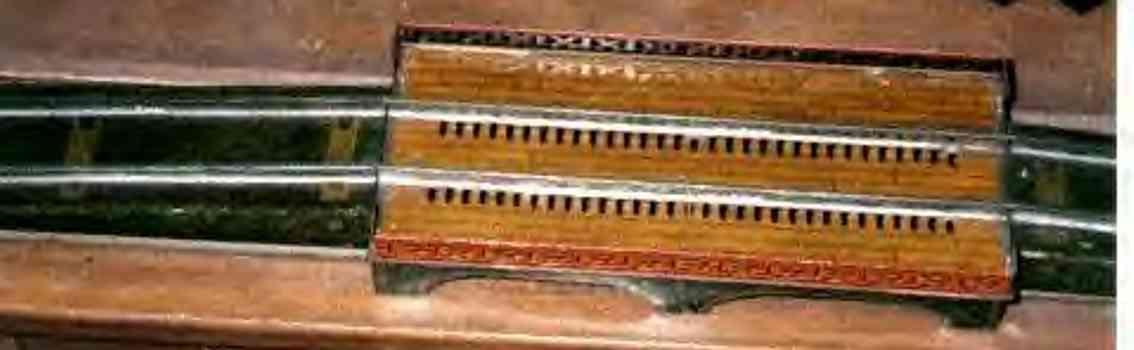 ives 101 eisenbahn bruecke holzlithografie spur 0