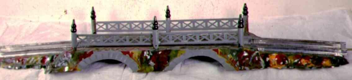 ives 101 (1923) spielzeug eisenbahn bruecke brücke. die nummer 100 ist die basisbrücke. die 101 ist iden