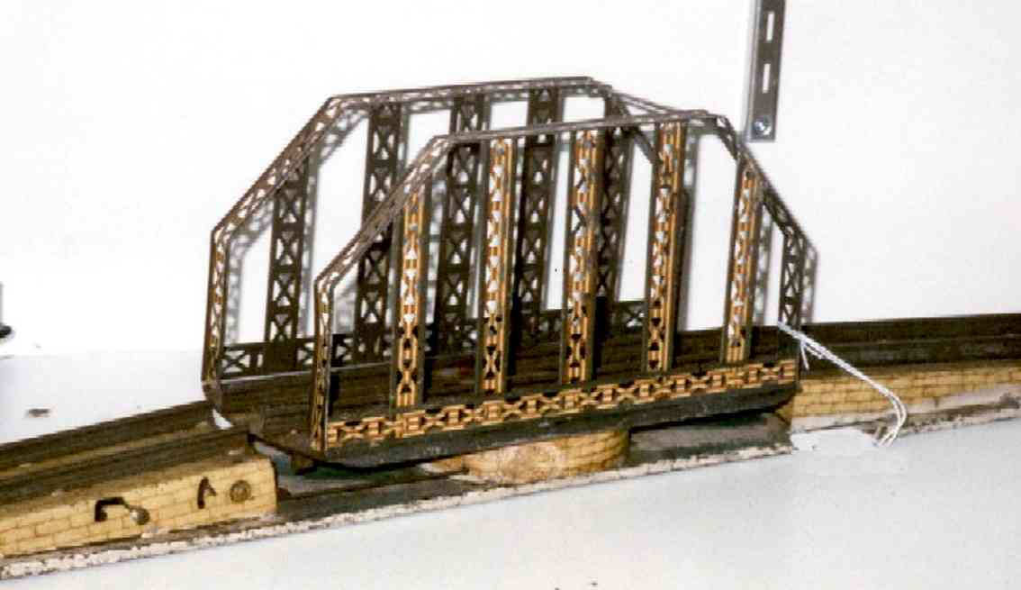 ives 97 railway toy swing bridge with round or square base