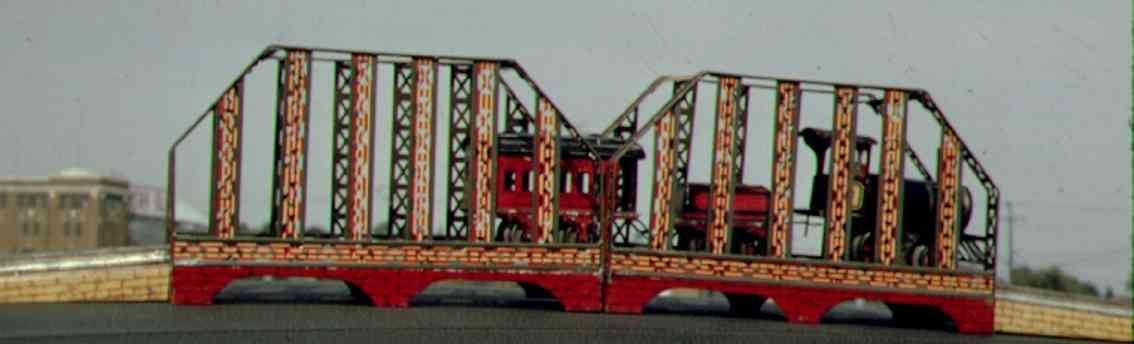ives 99 (1906) railway toy bridge technically bridge with two center spans. the 98 was always
