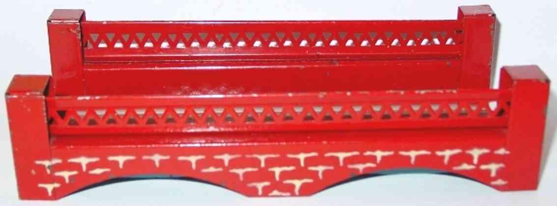 kibri 0/61/49 railway toy railway bridge red