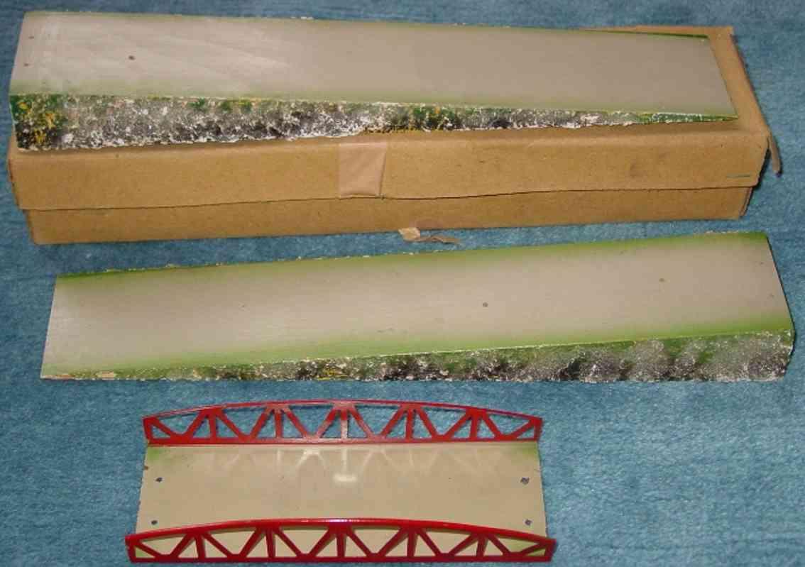 kibri 0/69/3 spielzeug eisenbahn eisenbahnbrücke rote gittern zwei rampen