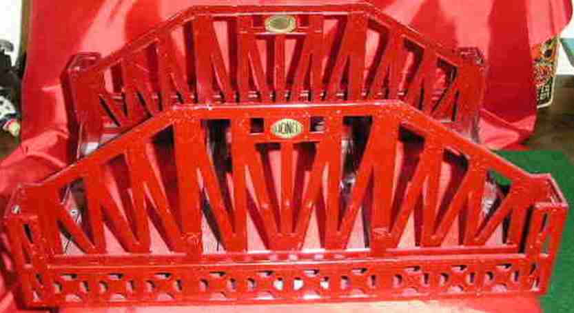lionel 280 spielzeug eisenbahn brucke in rot