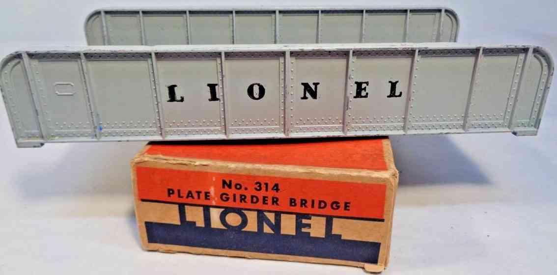 lionel 314 spielzeug eisenbahn bruecke traegerplatte