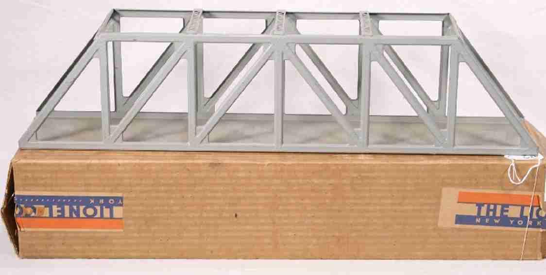 lionel 93/II spielzeug eisenbahn gitterbruecke in grau