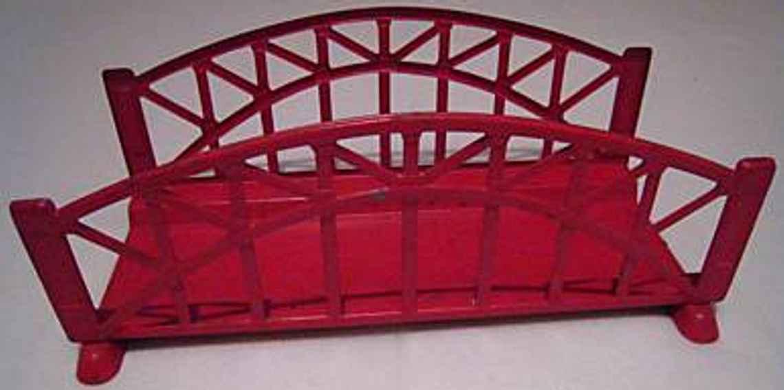 maerklin 2499/0 spielzeug eisenbahn gitterbruecke rot spur 0