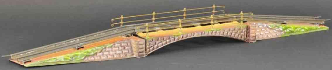 maerklin 2501/0 spielzeug eisenbahn steinbogenbruecke mit gelaender spur 0