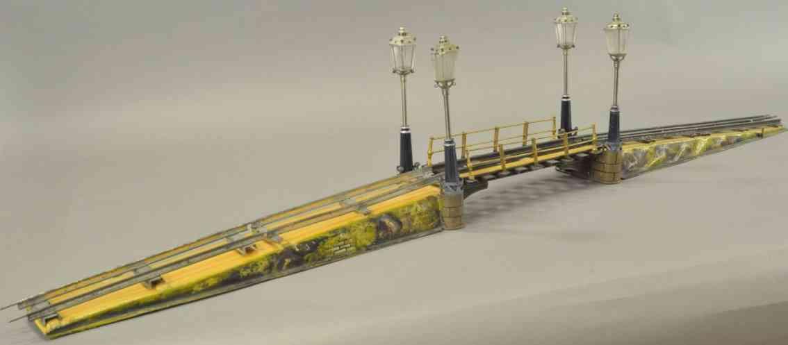 maerklin 2502/1 2065/1 spielzeug eisenbahn bruecke vier kandelaber spur 1