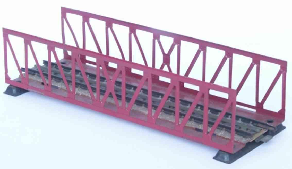 maerklin 466-1 spielzeug eisenbahn gitterbruecke spur h0