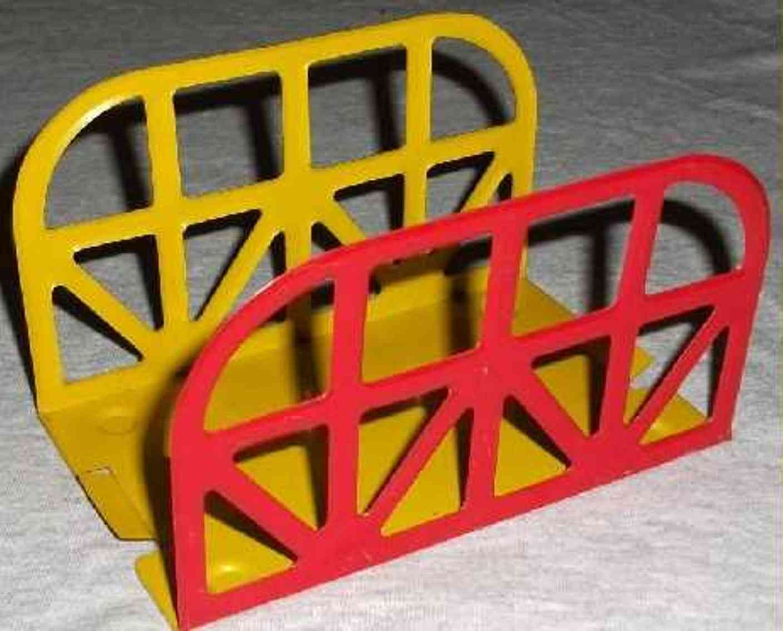wimmer heinrich hwn 200/12 railway toy railroad truss bridge viaduct red yellow