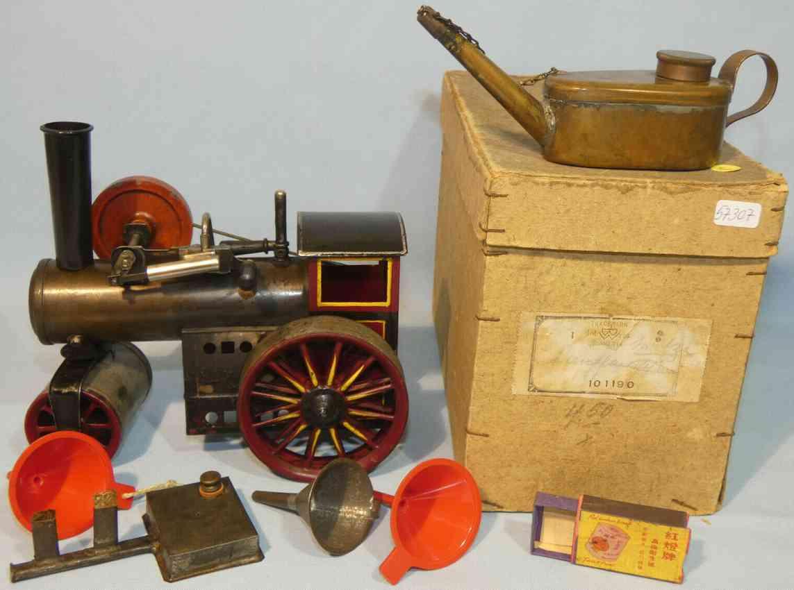bing 10/1190 dampfspielzeug dampfwalze dampftraktor blech gusseisen