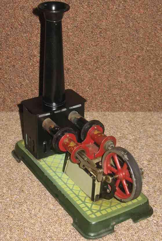 bing 10/124 dampfspielzeug liegender heissluftmotor zwei zylinder