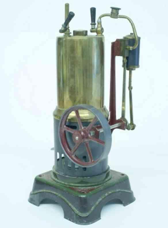 bing 10/381/4 vertical steam toy standing steam engine with water gauge, definite cylinder, w