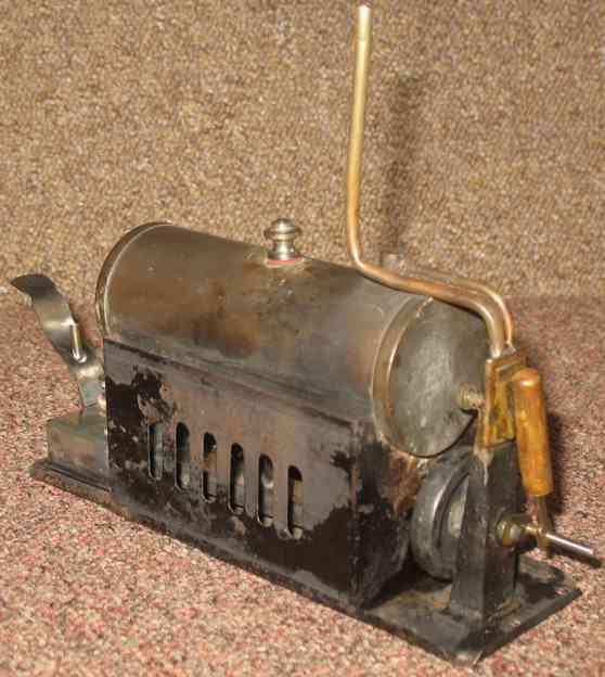 bing 11/625/2 dampfspielzeug liegende dampfmaschine marinemaschine