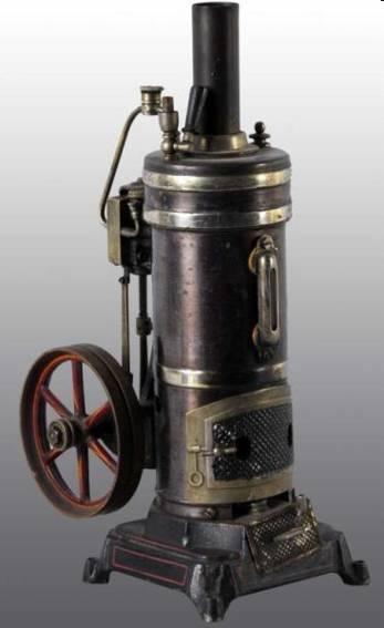 bing 130/111 dampfspielzeug stehende dampfmaschine dampfmaschine mit wasserglas, sicherheitsventil und öler, pf