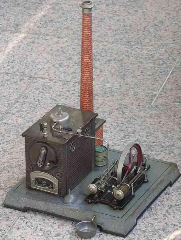 bing 130/246 dampfspielzeug zwillingsmaschine  mit zwei feststehenden zylindern