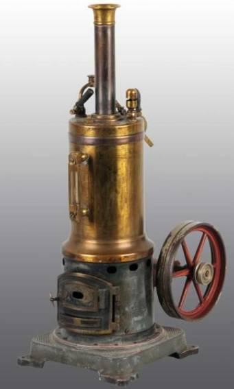 bing 130/333 dampfspielzeug stehende dampfmaschine dampfmaschine mit pfeifer, feuerungstür und wasserglas