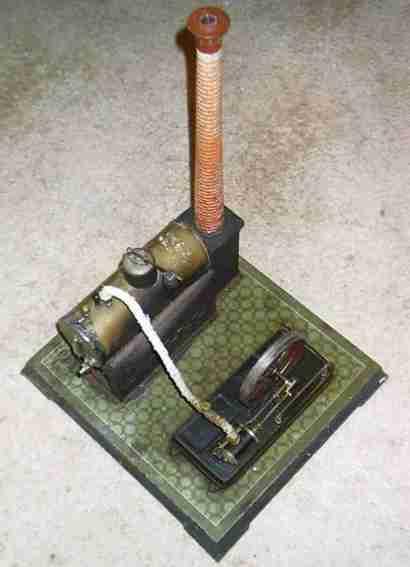 bing 130/466 dampfspielzeug liegende dampfmaschine dampfmaschine, der kessel ist 81,5 cm lang und hat einen dur