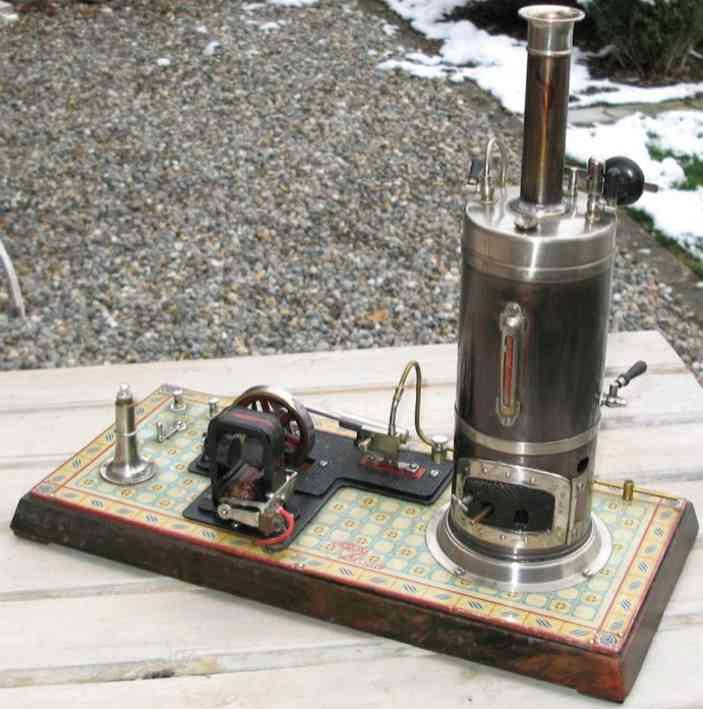 bing 130/512 dampfspielzeug stehende dampfmaschine mit dynamo
