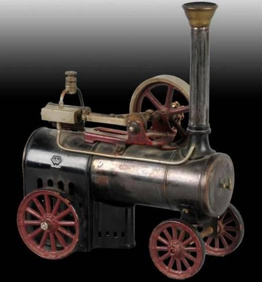 bing 130/731 dampfspielzeug fahrbare lokomobile traktor, diese ausführung hat eine erweiterten kamin