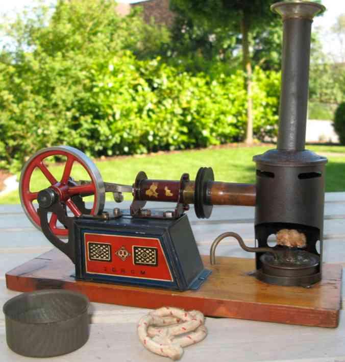 bing 135 dampfspielzeug liegende heissluftmotoren liegender heissluftmotor luftgekühlt; ineinander gelagerte a