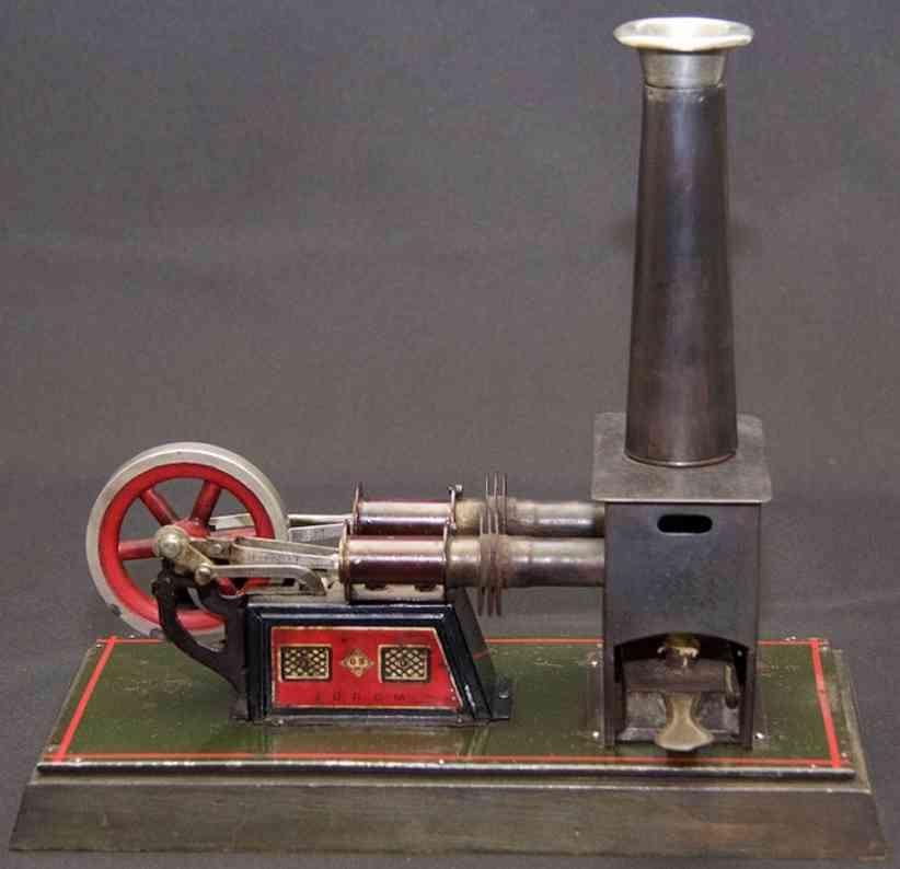 bing 135/16 dampfspielzeug liegender heissluftmotor